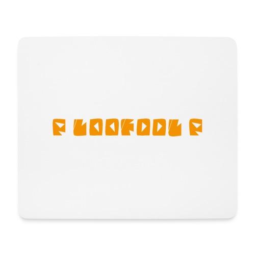 P loofool P - Orange logo - Musematte (liggende format)