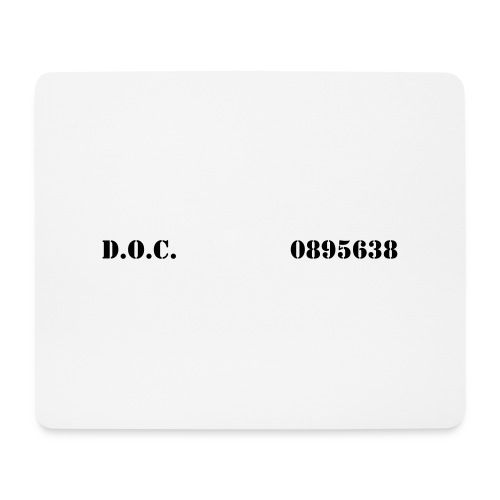 Department of Corrections (D.O.C.) 2 front - Mousepad (Querformat)