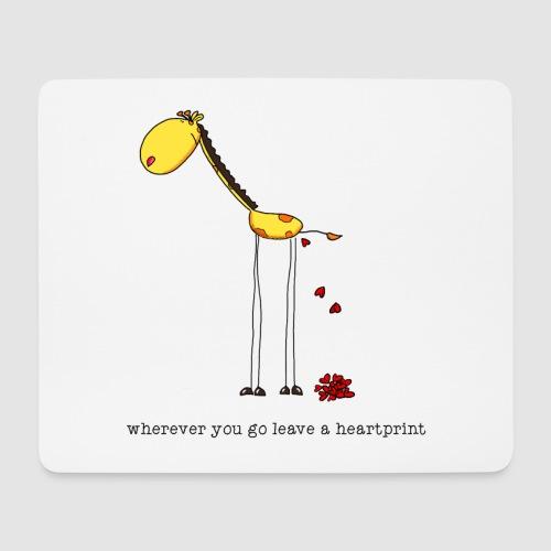 heartprint - Mousepad (Querformat)