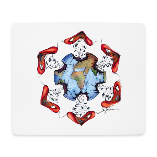 Égoïsme de l'être humain - Tapis de souris (format paysage)