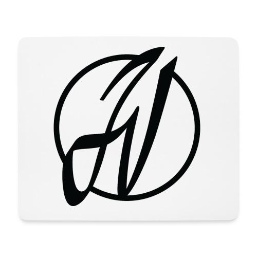 JV Guitars - logo noir - Tapis de souris (format paysage)