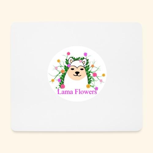 Lama Flowers - Tapis de souris (format paysage)