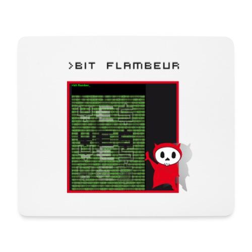 bit flambeur - Tapis de souris (format paysage)