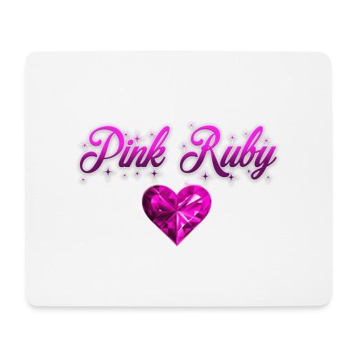 Pink Ruby heart - Musmatta (liggande format)