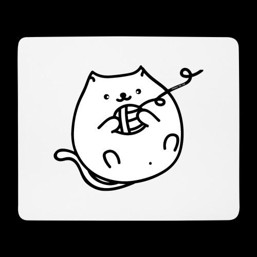 classic fat cat - Mousepad (Querformat)