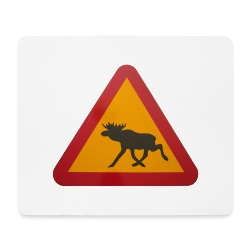 Warnschild Elch - Mousepad (Querformat)