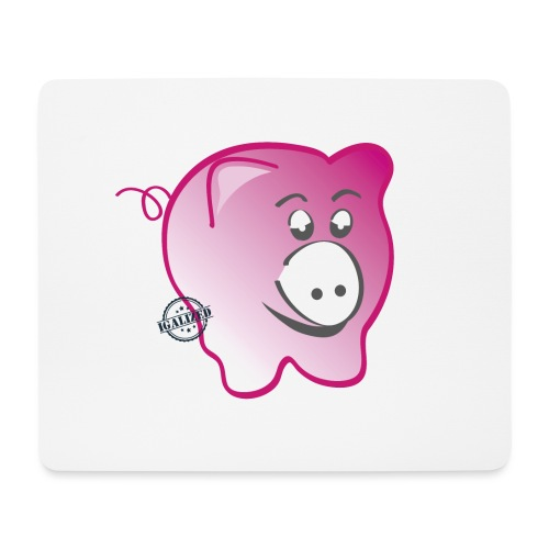 Pig - Symbols of Happiness - Mouse Pad (horizontal)