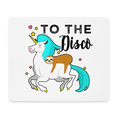 Funny Sloth Riding Unicorn - Mousepad (Querformat)