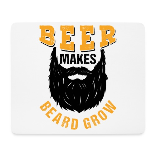Beer Makes Beard Grow Funny Gift - Mousepad (Querformat)