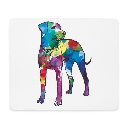 Labrador Hund Hunde bunte Silhouette - Mousepad (Querformat)