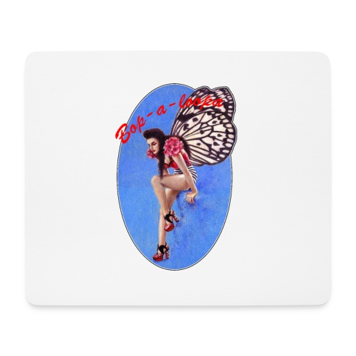 Vintage Rockabilly Butterfly Pin-up Design - Mouse Pad (horizontal)