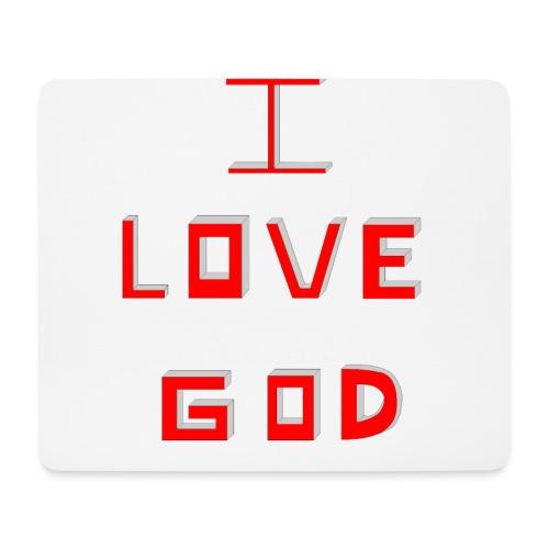 I LOVE GOD - Alfombrilla de ratón (horizontal)