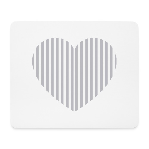heart_striped.png - Mouse Pad (horizontal)