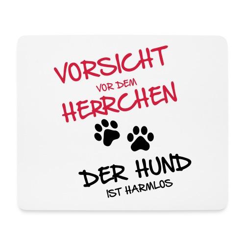 Vorschau: Vorsicht Herrchen - Mousepad (Querformat)