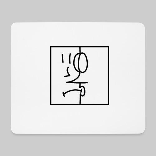 zwei Gesicht - Mousepad (Querformat)