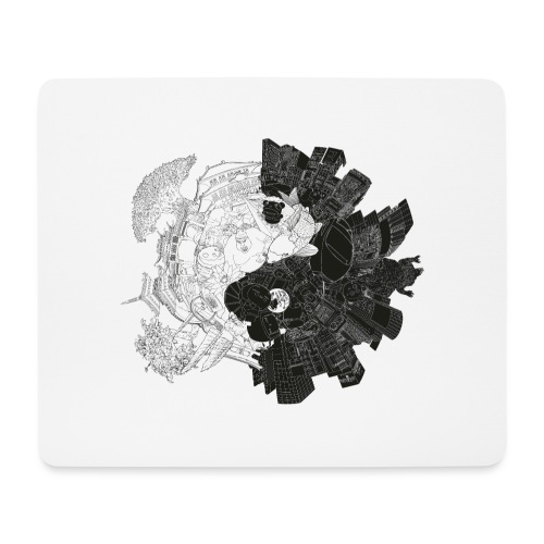 New Yin Old Yang - Mouse Pad (horizontal)