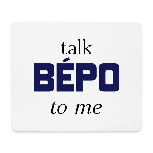 talk bépo new - Tapis de souris (format paysage)