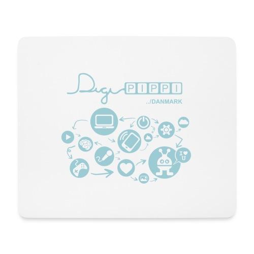 DigiPippi Danmark Blue - Mousepad (bredformat)