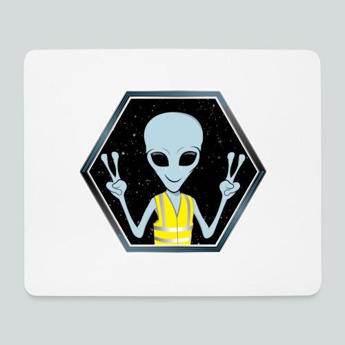 Extraterrestre Gilet jaune - Tapis de souris (format paysage)