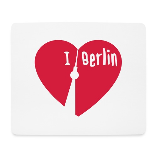 I love Berlin (1-farbig) - Mousepad (Querformat)