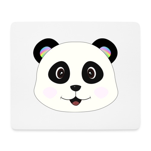panda rainbow - Alfombrilla de ratón (horizontal)