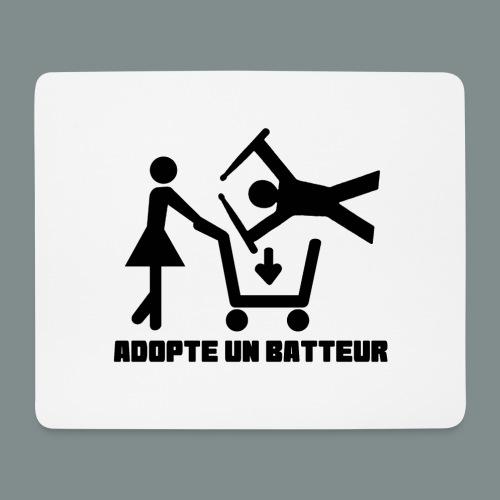 Adopte un batteur - idee cadeau batterie - Tapis de souris (format paysage)