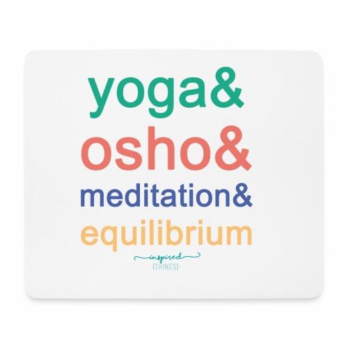 Yoga& Osho& Meditation& Equilibrium - Mouse Pad (horizontal)