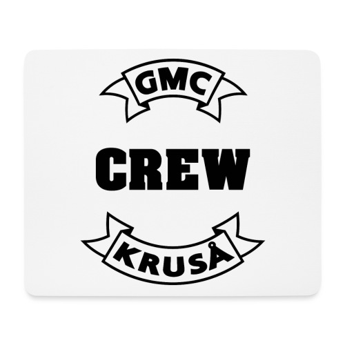 GMC CREWSHIRT - KUN FOR / CREW MEMBERS ONLY - Mousepad (bredformat)