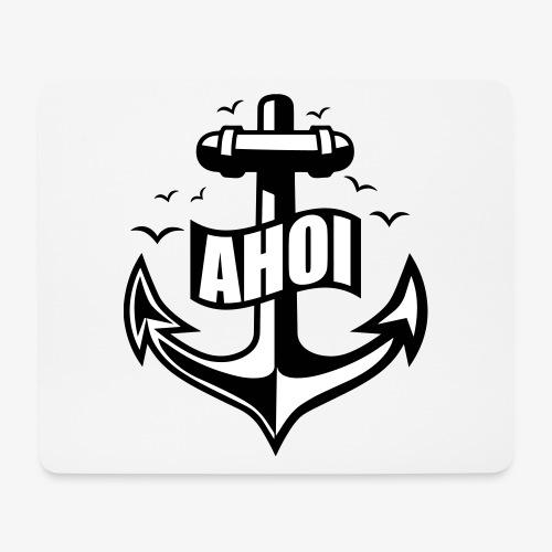 104 Ahoi Anker Möwen maritim - Mousepad (Querformat)