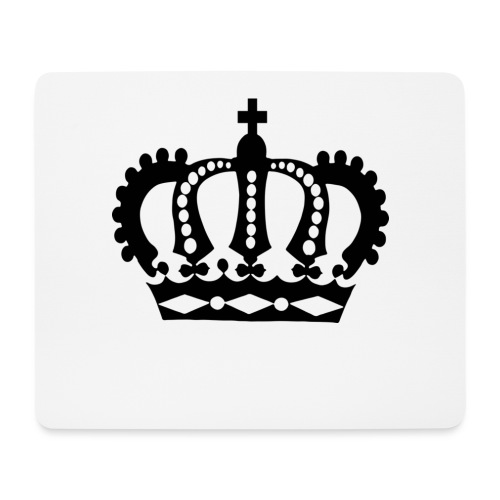 Crown Black - Mousepad (Querformat)