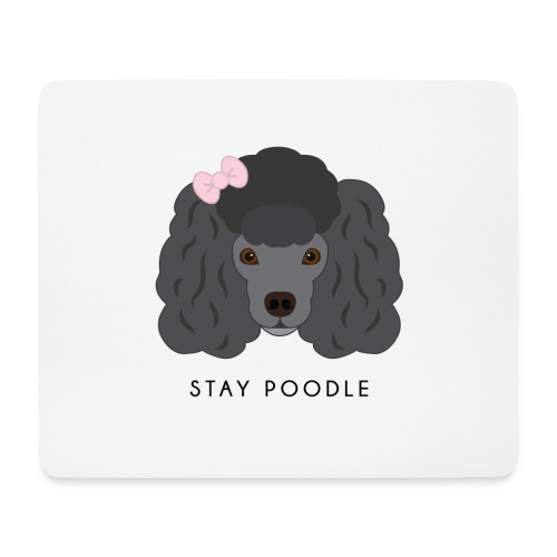 Poodle Black - Tappetino per mouse (orizzontale)