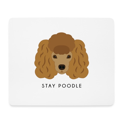 Poodle Brown - Tappetino per mouse (orizzontale)