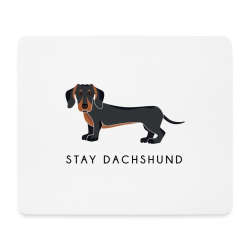 Dachshund Black - Tappetino per mouse (orizzontale)