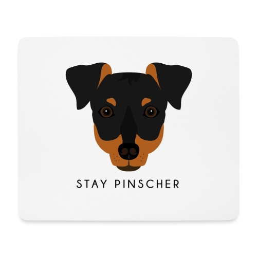 Pinscher - Black - Tappetino per mouse (orizzontale)