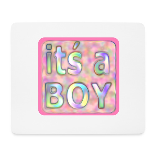 its a boy rosa text skylt - Mouse Pad (horizontal)