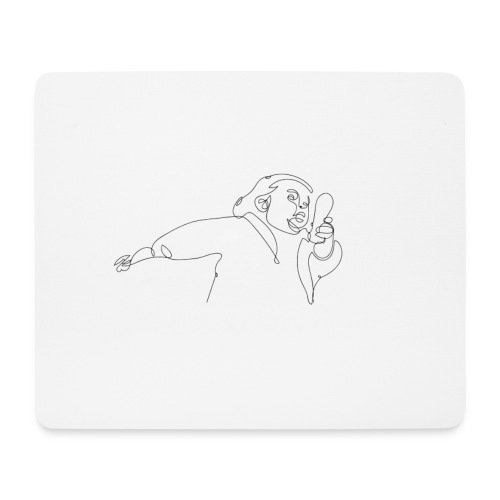 GIRL - Mousepad (Querformat)