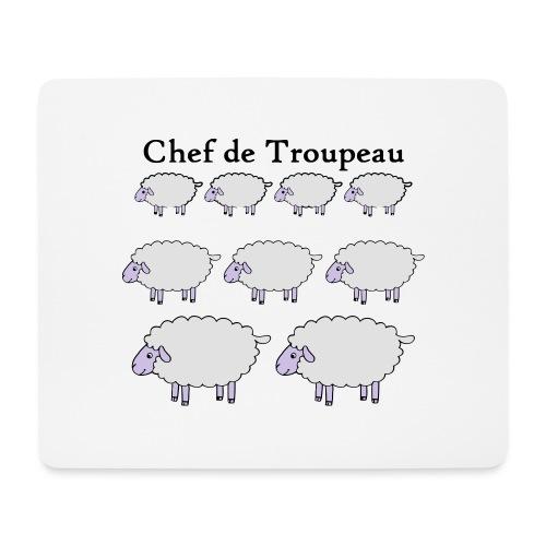 chef-de-troupeau - Tapis de souris (format paysage)