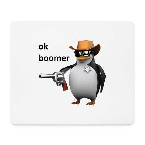 Ok Boomer Penguin Sheriff - Mouse Pad (horizontal)