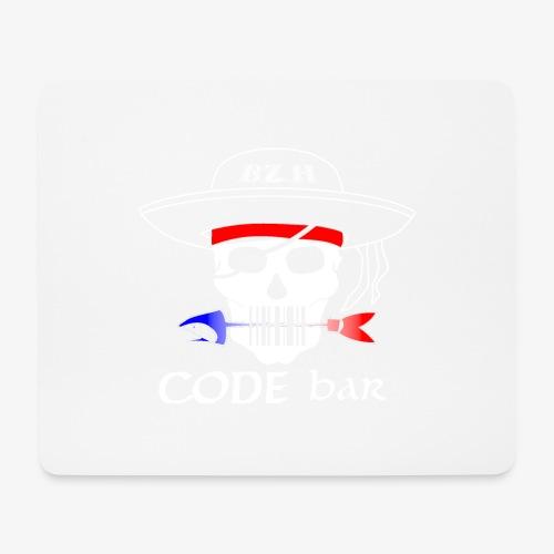 Code Bar white - Tapis de souris (format paysage)