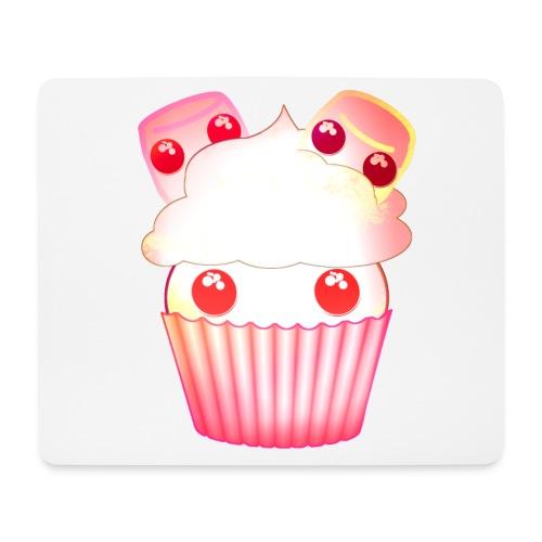 harajuku kawaii cupcake muffins med marshmallows - Mouse Pad (horizontal)