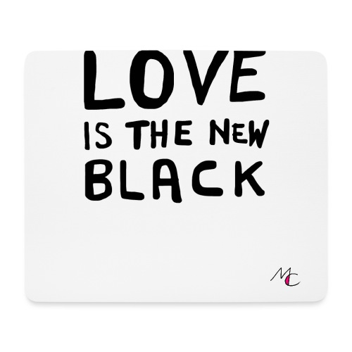 Love is the new black - Tappetino per mouse (orizzontale)