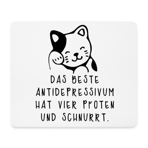 Katzen sind das beste Antidepressivum - Mousepad (Querformat)