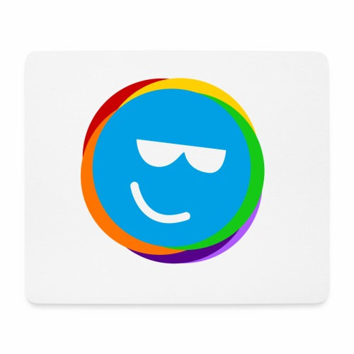 my better life - happy smiley blue - Mousepad (Querformat)