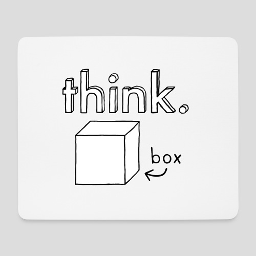 Think Outside The Box Illustration - Mouse Pad (horizontal)