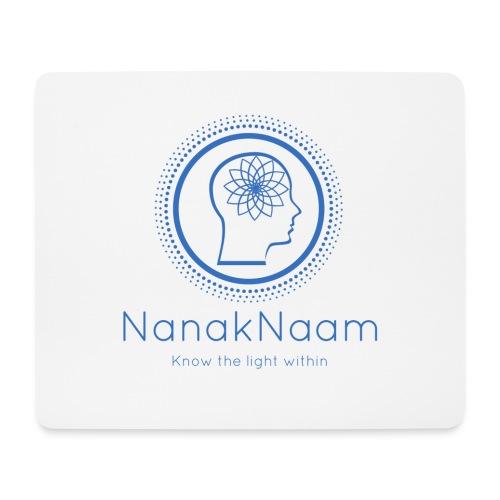 Nanak Naam Logo and Name - Blue - Mouse Pad (horizontal)