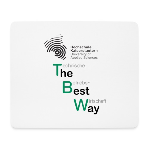 TBW The Best Way schwarz grau - Mousepad (Querformat)