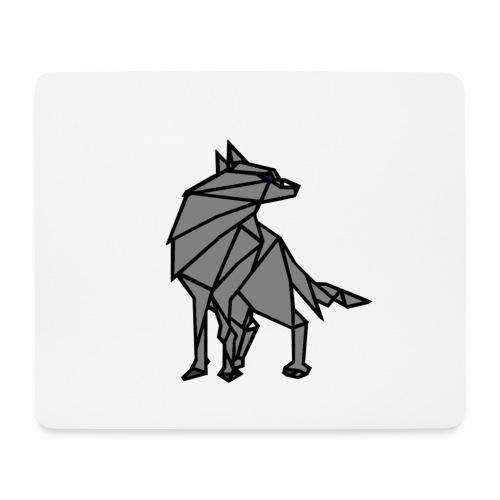 loup geometrique - Tapis de souris (format paysage)