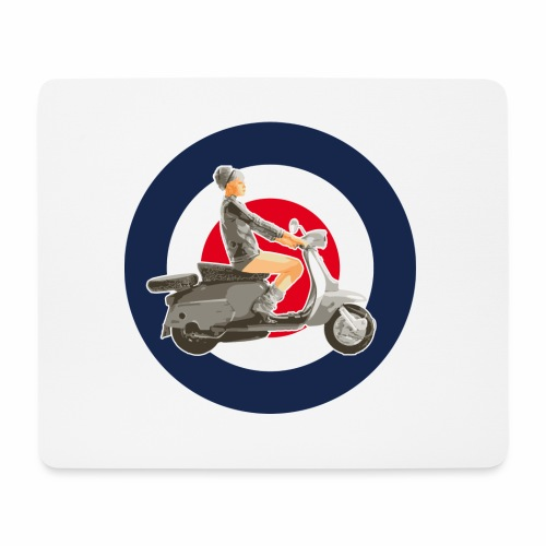 Scooter girl - Tapis de souris (format paysage)