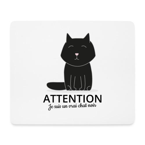 Chat noir - Tapis de souris (format paysage)