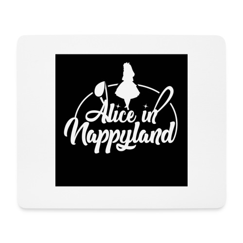 Alice in Nappyland TypographyWhite 1080 - Mouse Pad (horizontal)